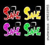 big sale. special offer banner... | Shutterstock .eps vector #698535955