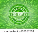 no obligation realistic green... | Shutterstock .eps vector #698537551