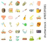 profession icons set. cartoon... | Shutterstock .eps vector #698539381