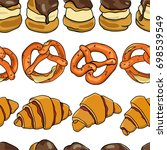 vector seamless pattern with... | Shutterstock .eps vector #698539549