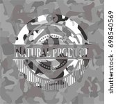 natural product grey camo emblem | Shutterstock .eps vector #698540569