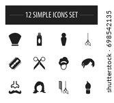 set of 12 editable hairdresser...
