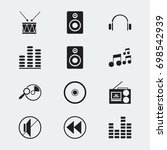 set of 12 editable media icons. ...