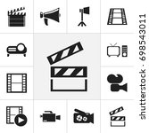 set of 12 editable cinema icons....