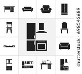 set of 12 editable interior...