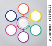 circle infographic template... | Shutterstock .eps vector #698545135