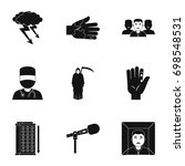 anxiety and stress icon set....   Shutterstock .eps vector #698548531