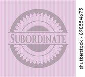 subordinate vintage pink emblem | Shutterstock .eps vector #698554675