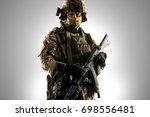 soldier of russian mechanized... | Shutterstock . vector #698556481