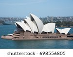 sydney opera house with... | Shutterstock . vector #698556805