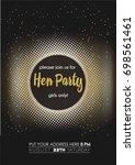 modern hen party invitation card | Shutterstock .eps vector #698561461