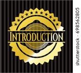 introduction golden badge | Shutterstock .eps vector #698562805