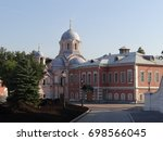 the refectory of the donskoy... | Shutterstock . vector #698566045