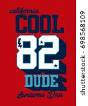 california cool dude t shirt... | Shutterstock .eps vector #698568109