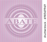 abate retro style pink emblem | Shutterstock .eps vector #698569969