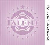 talent vintage pink emblem | Shutterstock .eps vector #698572231