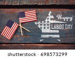 composite image of happy labor... | Shutterstock . vector #698573299