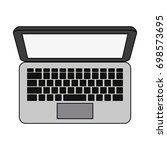 laptop computer icon image    Shutterstock .eps vector #698573695