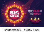 diwali festival offer big sale... | Shutterstock .eps vector #698577421