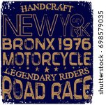 vintage motorcycle poster t... | Shutterstock .eps vector #698579035