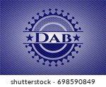 dab badge with denim texture | Shutterstock .eps vector #698590849