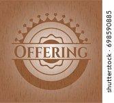 offering vintage wooden emblem | Shutterstock .eps vector #698590885