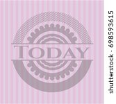 today retro style pink emblem | Shutterstock .eps vector #698593615