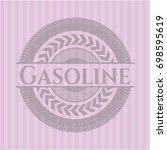 gasoline pink emblem. vintage. | Shutterstock .eps vector #698595619