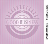 good business realistic pink... | Shutterstock .eps vector #698598301