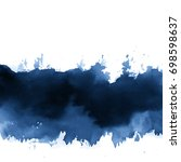 ink wash painting on white... | Shutterstock .eps vector #698598637
