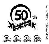 anniversary ribbon number 10 20 ...   Shutterstock .eps vector #698603191