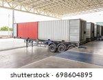 cargo transportation  ...   Shutterstock . vector #698604895