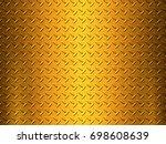 metal plate background | Shutterstock . vector #698608639