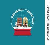 Flat Design Souvenir Snow Globe ...