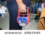 digital hand grip dynamometer ...   Shutterstock . vector #698619469