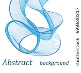 abstract blue lines | Shutterstock .eps vector #698630317