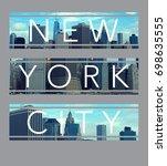 photo print new york city...   Shutterstock . vector #698635555