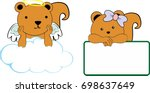 cute little angel and girl... | Shutterstock .eps vector #698637649