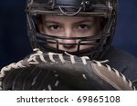 Young Teenage Boy In Catcher's...