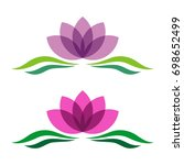 lotus or lily flower decorative ...