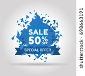 special offer sale colored tag. ...   Shutterstock .eps vector #698663191