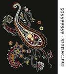 paisley pattern   Shutterstock .eps vector #698669905