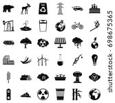 our ecology icons set. simple... | Shutterstock .eps vector #698675365