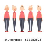 front  side  back view animated ... | Shutterstock .eps vector #698683525