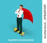 isometric superhero concept....   Shutterstock .eps vector #698689489