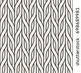 vector seamless pattern. modern ... | Shutterstock .eps vector #698689981