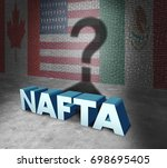 nafta or the north american... | Shutterstock . vector #698695405