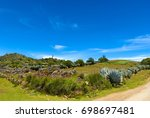 rural road in huehuetenango ... | Shutterstock . vector #698697481
