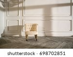 white empty room with wooden... | Shutterstock . vector #698702851