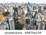 panoramic view of the city from ... | Shutterstock . vector #698706139